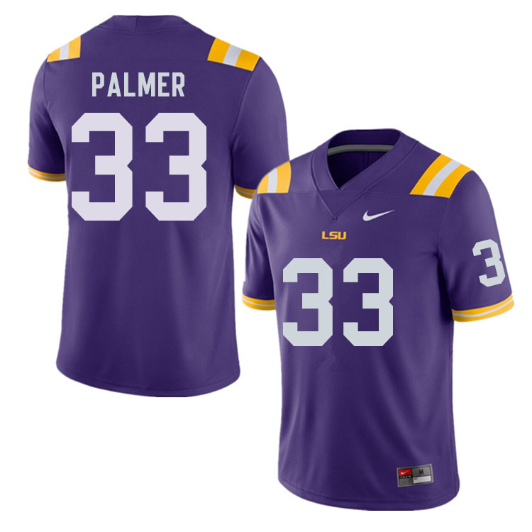 Men #33 Trey Palmer LSU Tigers College Football Jerseys Sale-Purple